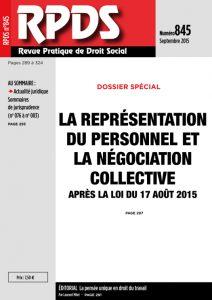 RPDS 845 – Septembre 2015