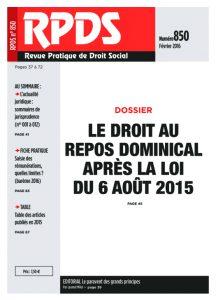 RPDS 850 – Février 2016