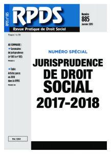 RPDS 885 Jurisprudence de droit social 2017-2018