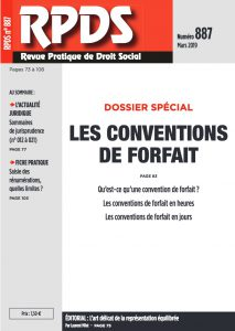 RPDS 887 Les conventions de forfait