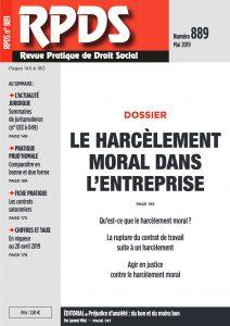 RPDS 889 - Le harcèlement moral dans l'entreprise