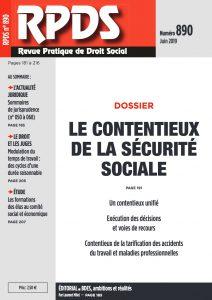 RPDS 890 - Le contentieux de la Sécurité sociale