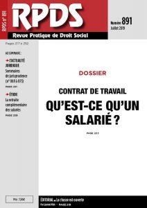 RPDS 891 - Le contrat de travail