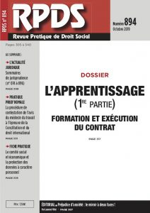 RPDS 894 - L'apprentissage
