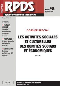 RPDS 896 - Les activités sociales et culturelles des comités sociaux et économiques