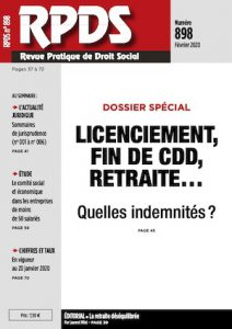 RPDS 898 - Quelles indemnités pour le licenciement, fin de CDD, la retraite… ?