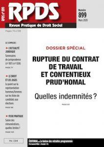RPDS 899 - Rupture du contrat de travail et contentieux prud'homal