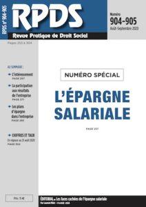 RPDS 904-905 - L'épargne salariale