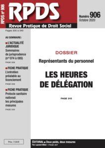 RPDS 906 - Les heures de délégation
