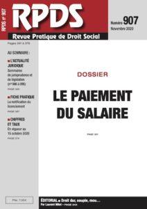 RDPS 907 - Le paiement du salaire
