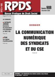 RPDS 908 : La communication numérique des syndicats et du CSE