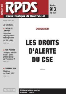 RPDS 913 - Les droits d'alerte du CSE