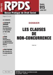 RPDS 915 - Les clauses de non-concurrence